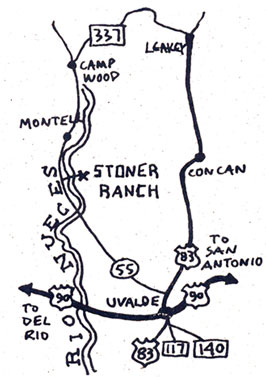 Map to Stoner Ranch